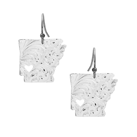 ARKANSAS SILVER EARRINGS