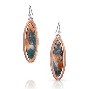 MOUNTAIN GLACIER TURQUOISE OVAL EARRINGS