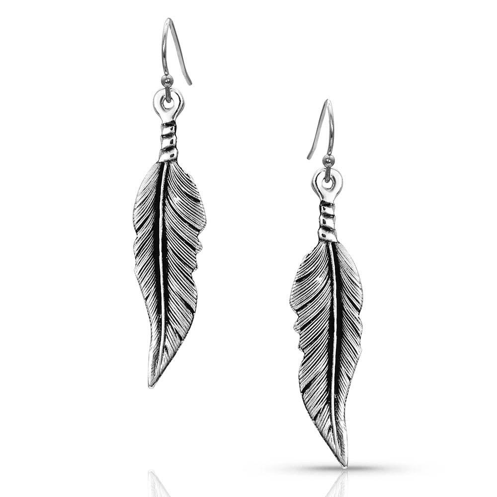 LITTLE BUT FIERCE FEATHER EARRINGS