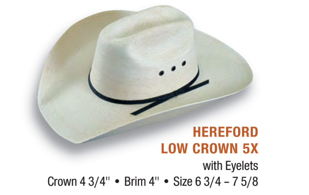 5X HEREFORD PALM HAT