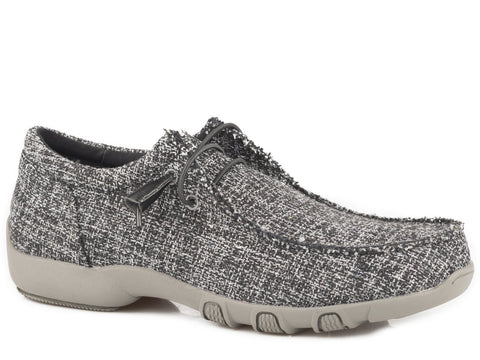 LADIES BLACK TWEED CHILLIN SHOE