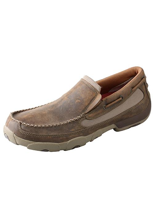 MENS BOMBER SLIP-ON DRIVING MOC