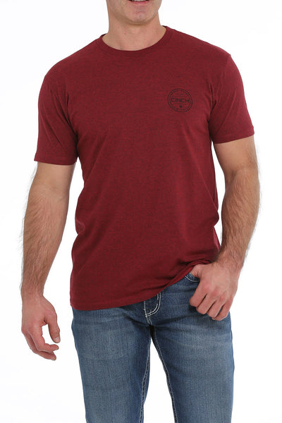 MENS BURGANDY CINCH TEE SHIRT