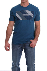 MENS HEATHER TURQUOISE CINCH TEE SHIRT