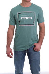 02/20 MENS HEATHER GREEN CINCH TEE SHIRT