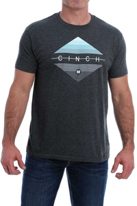 MENS HEATHER CHROME CINCH TEE