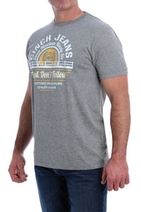 MENS HEATHER GRAY CINCH TEE