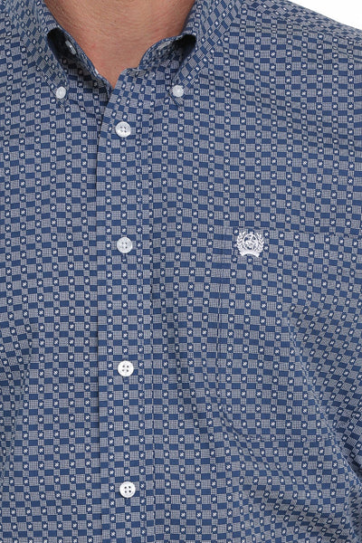 10/15/19 MENS NAVY PRINT  LONG SLEEVE SHIRT