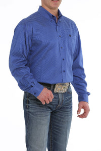 11/19 MENS BLUE PRINT LONG SLEEVE SHIRT