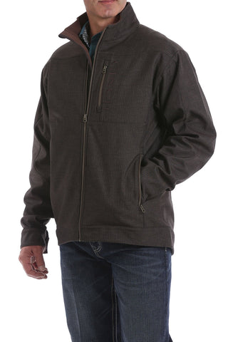 MENS BROWN TEXTURED BONDED CONCEALED CARRY JACKET