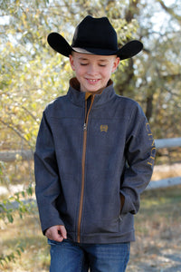 BOYS CHROME BONDED JACKET