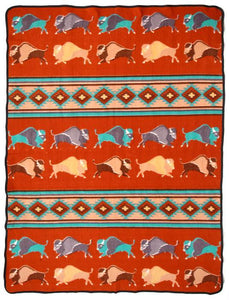 "RED BUFFALO 60"" x 80"" FLEECE BLANKET"