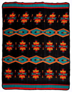 "BLACK SOUTHWEST DIAMOND 60"" x 80"" FLEECE BLANKET"