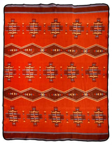 "RED SOUTHWEST DIAMOND 60"" x 80"" FLEECE BLANKET"