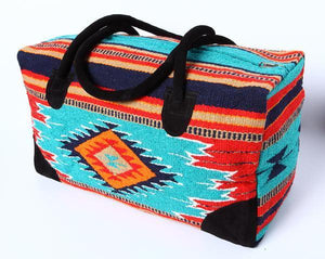 TURQ/RED/NAVY GO WEST TRAVEL BAG