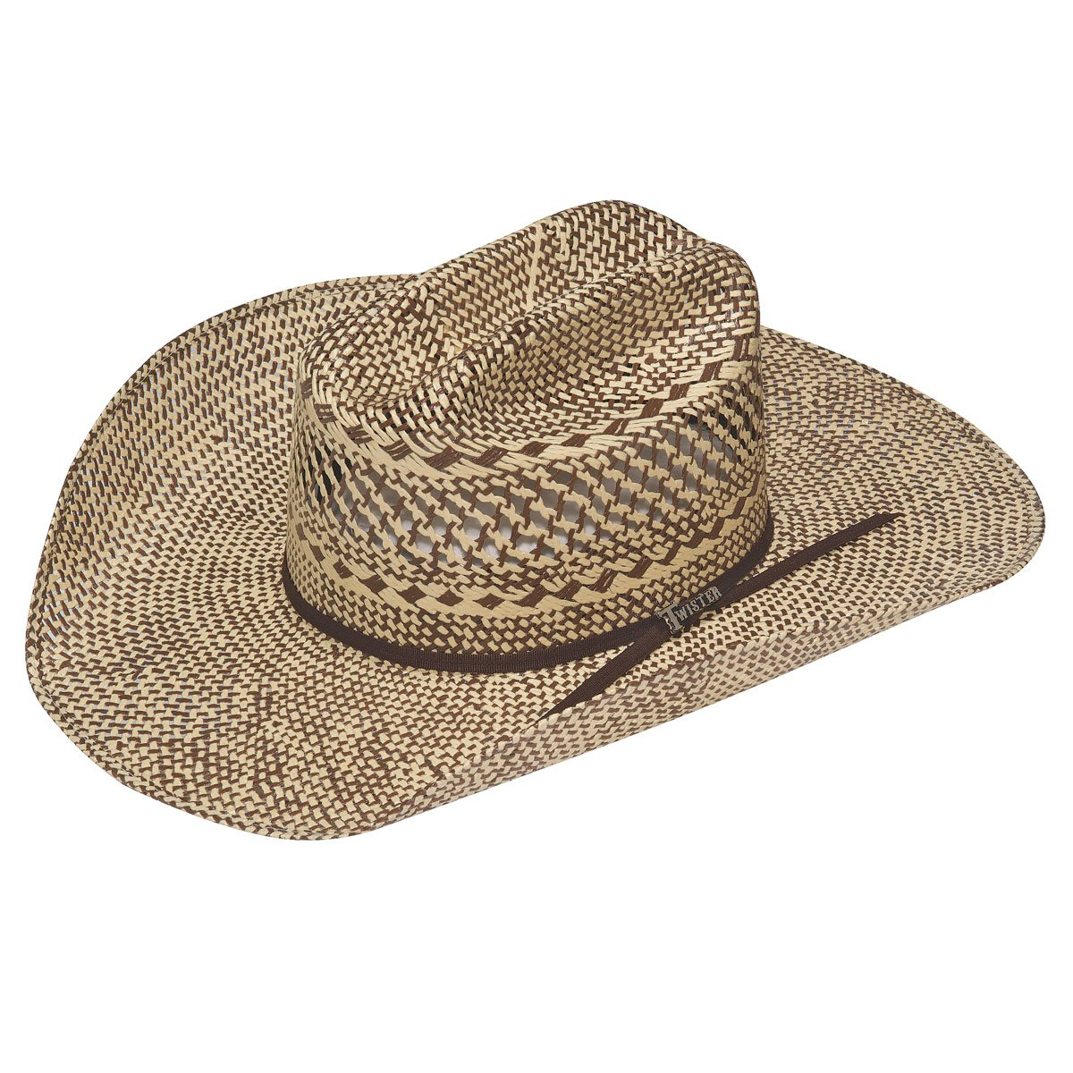 CHOCOLATE WEAVE TWISTER STRAW HAT