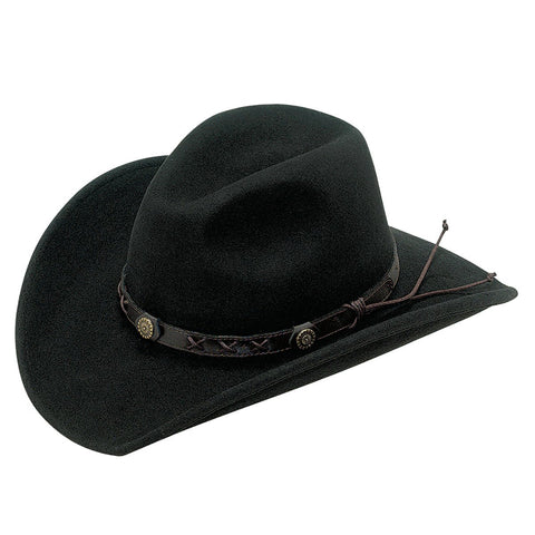BLACK DAKOTA CRUSHABLE FELT HAT
