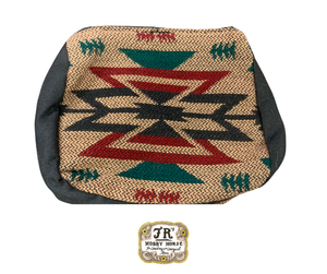 TAN/BURGANDY/GREEN SANTA FE COIN PURSE