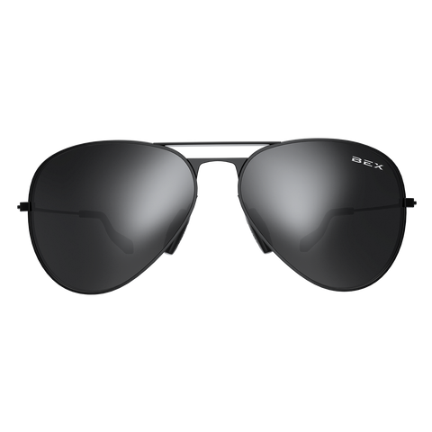 WESLEY BLK/GREY BEX SUNGLASSES