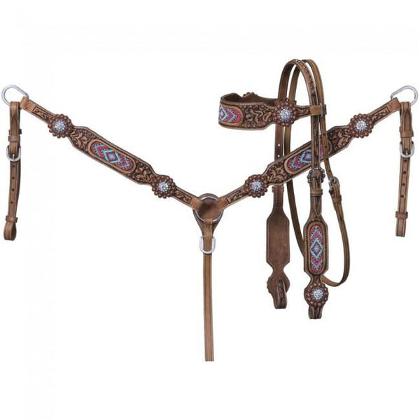 ABIGAIL BEADED BROWBAND HEADSTALL