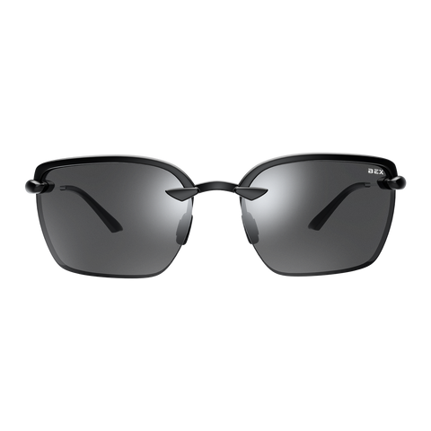 EZRA BLACK/GRAY BEX SUNGLASSES