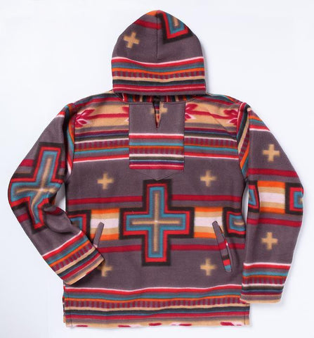 GREY/RED/TQ SOUTHWEST FLEECE PULLOVER