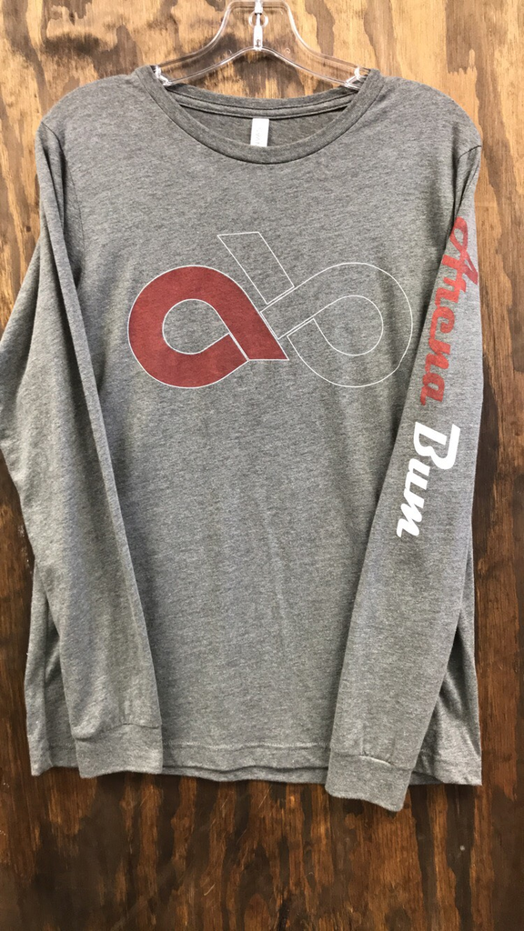 GREY/WHITE 2 TONE LOGO RED LONG SLEEVE TEE