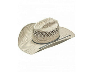 GRAY/IVORY TWISTER STRAW HAT