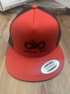 RED/BLACK ARENA BUM SNAPBACK CAP