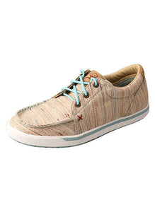 LADIES TAN MULTI STRIPE HOOEY LOPERS SHOE