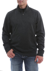 MENS 1/4 ZIP KNIT CINCH PULLOVER