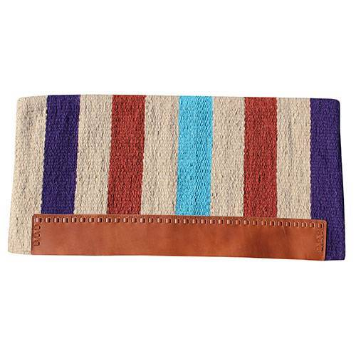 CASA ZIA NAVAJO BLANKET W/ LEATHER