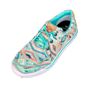 LADIES MINT/MULTI AZTEC TX HOOEY LOPERS