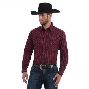 MENS WRANGLER SNAP SHIRT
