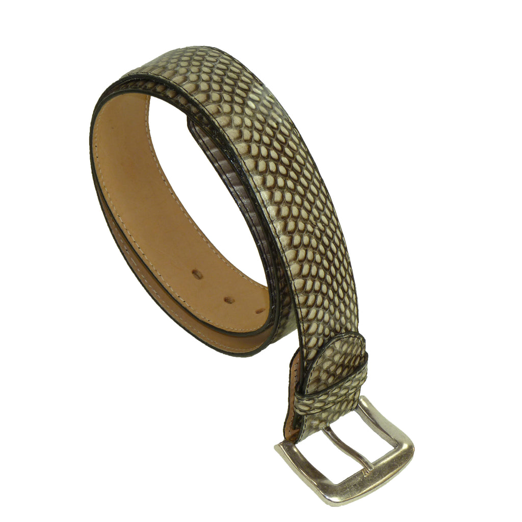 Exotic Natural Snakeskin Wide Belt from the exclusive Coly collection. Handmade in Los Angeles.