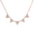 5 Triangle Diamond Necklace