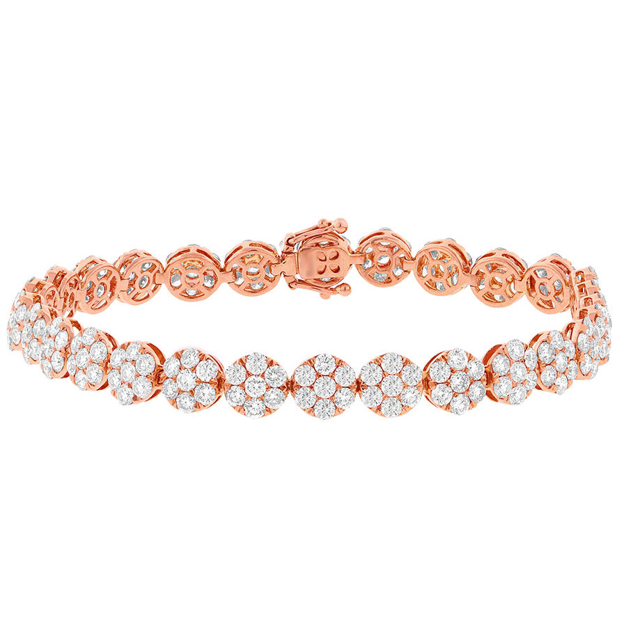 Diamond Cluster Tennis Bracelet