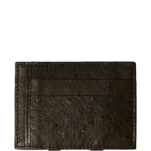Easy Money Brown Ostrich Wallet made in Los Angeles