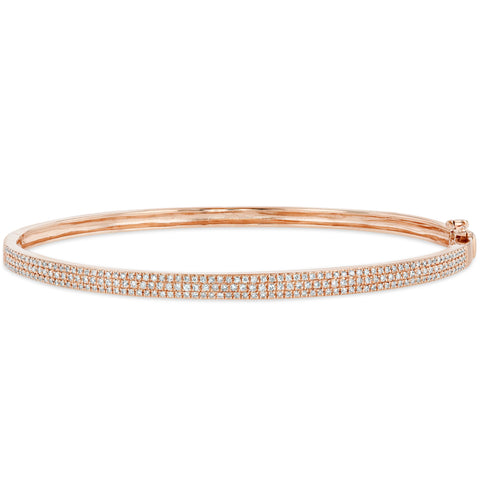 Skinny Pave Diamond Bangle