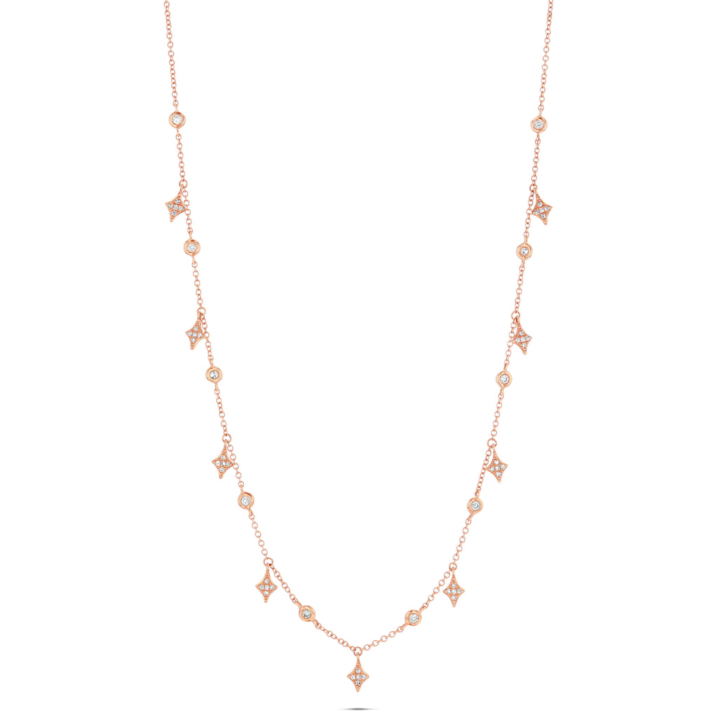 Twinkle Droplet Shaker Necklace