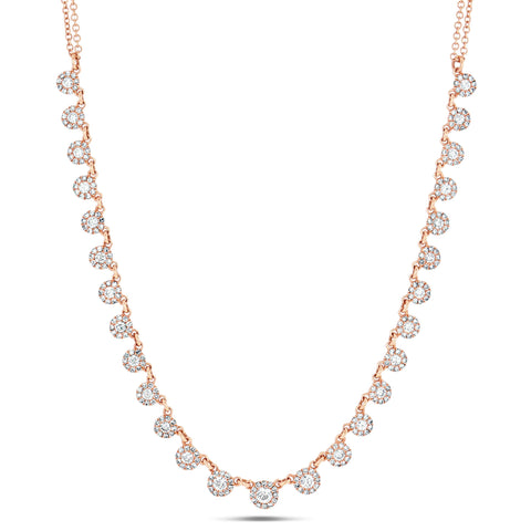Dazzle Diamond Circle Choker