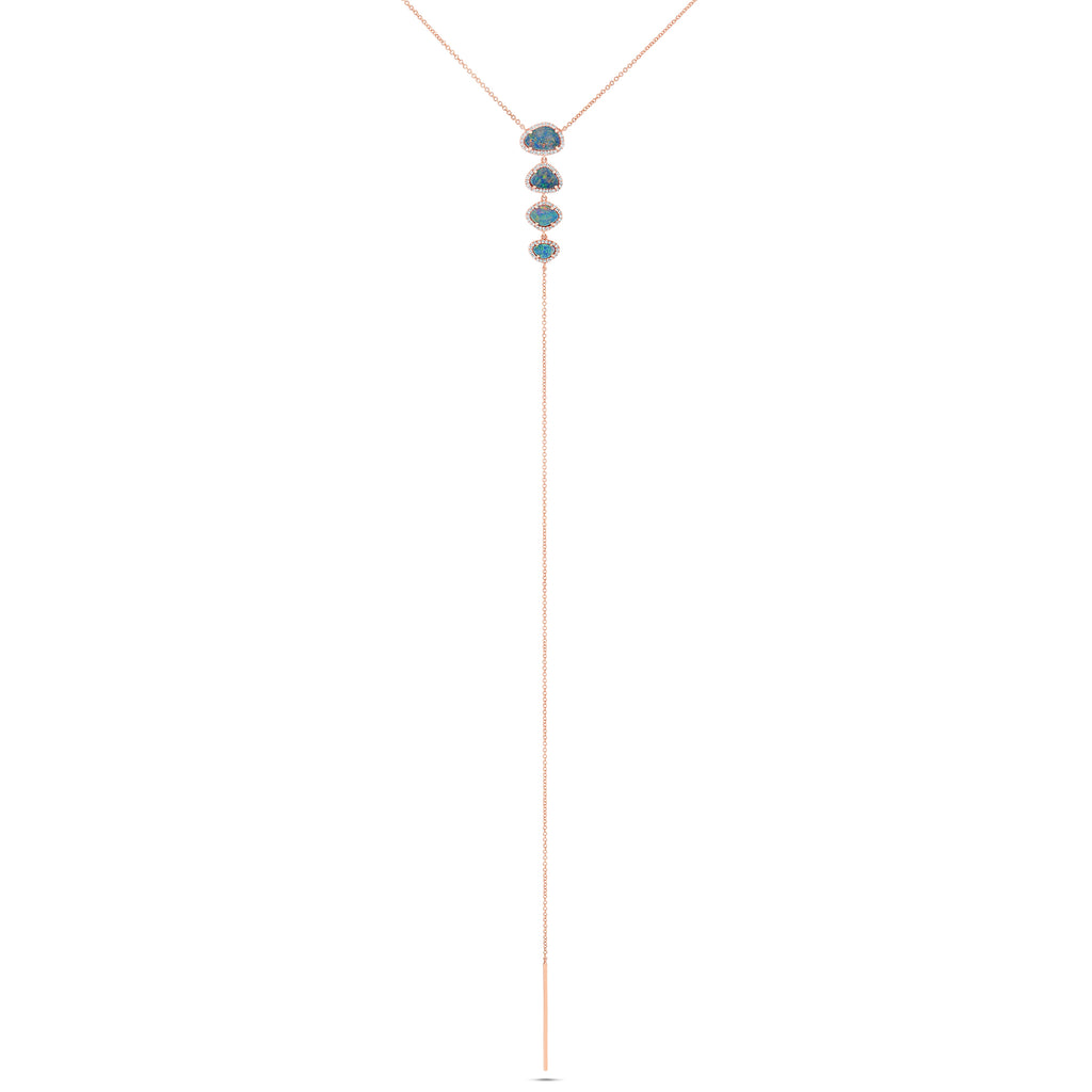 Opal and Diamond Lariat