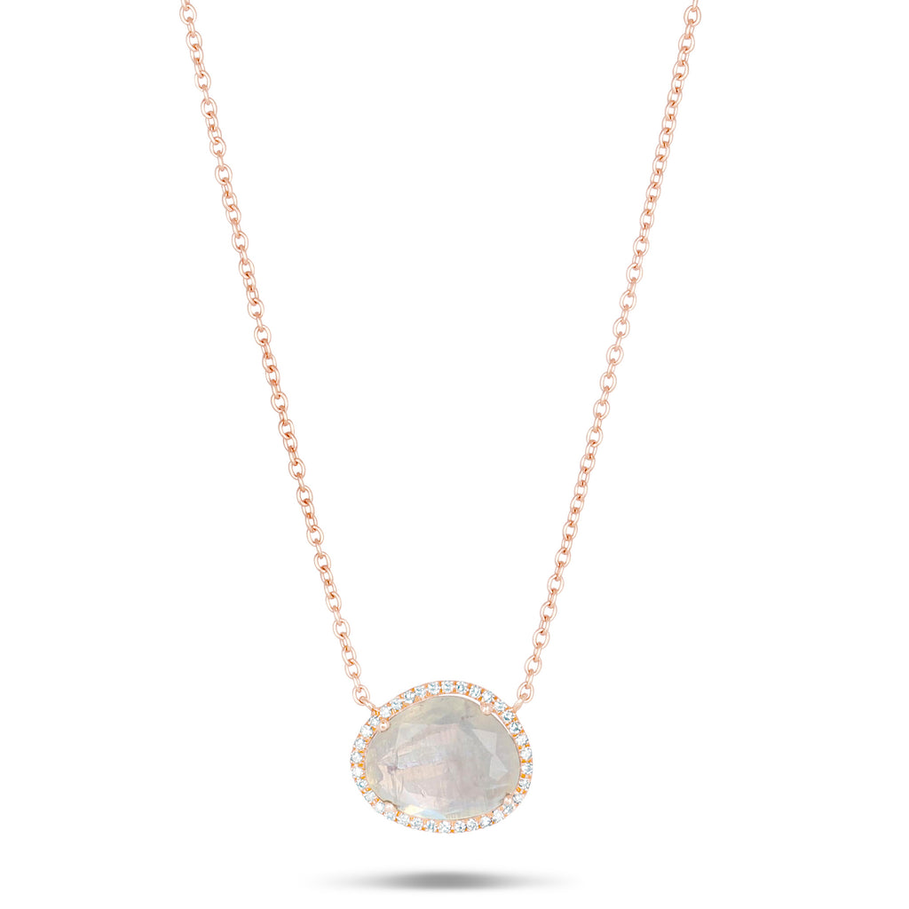 Moonstone Diamond Necklace
