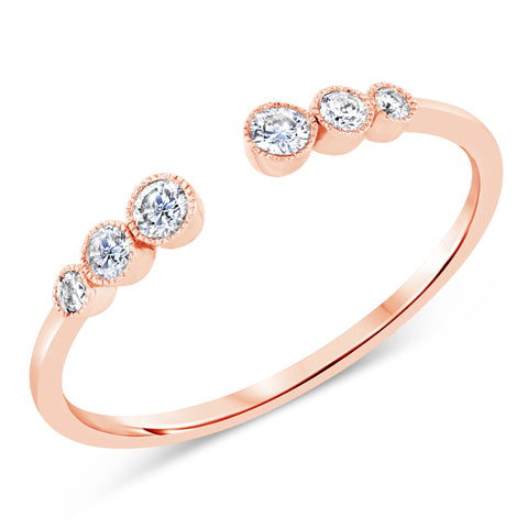 Open Bezel Diamond Ring