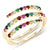 Twirl Rainbow Ring