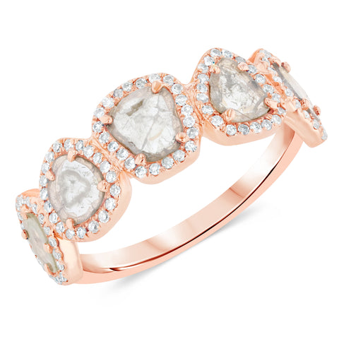 Sliced Diamond Leah Ring