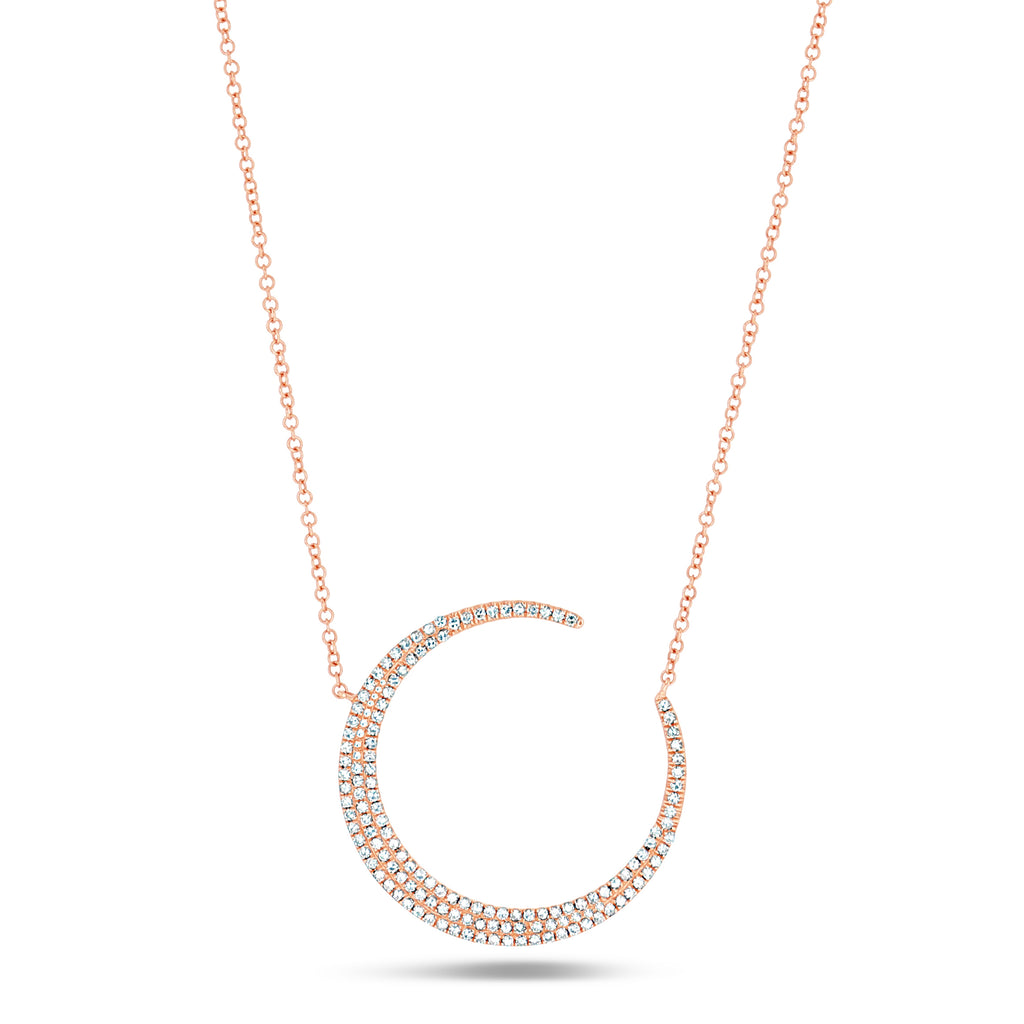 Moon Pave Necklace