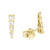 Baguette Diamond Triangle Studs