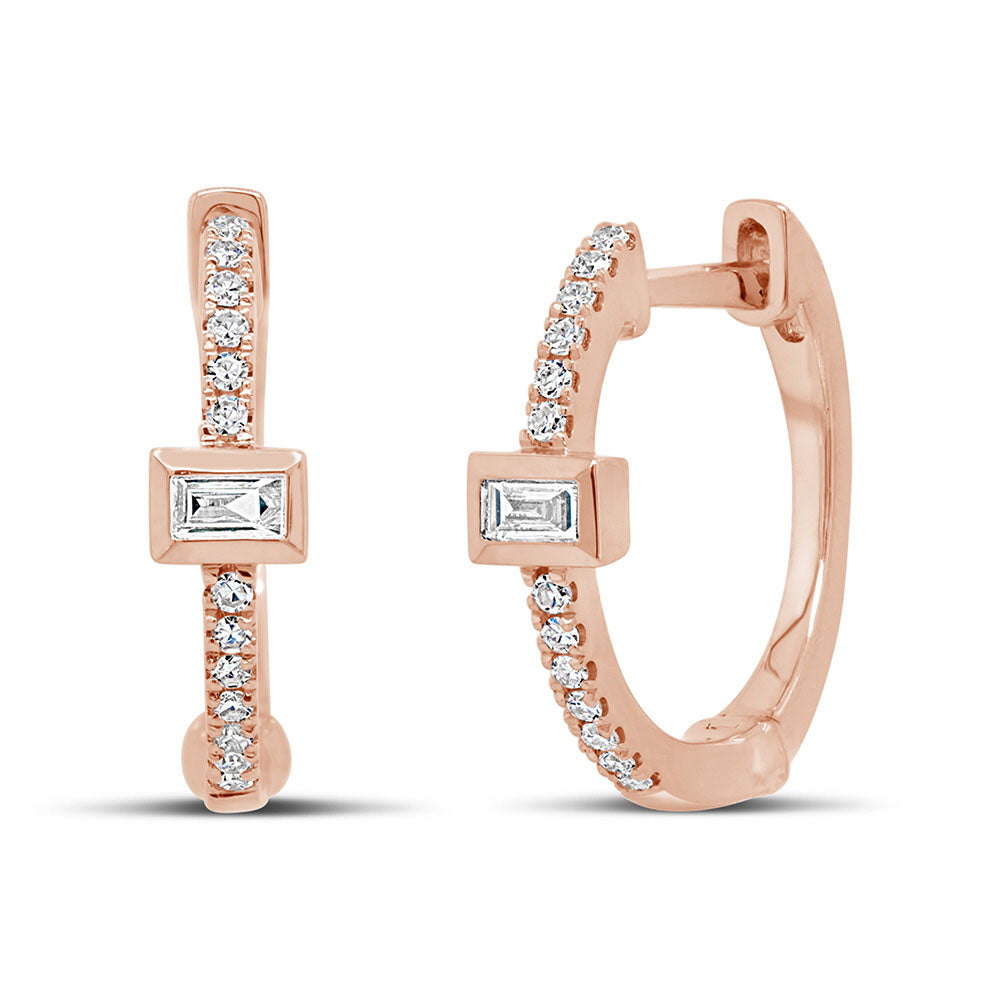 Portia Baguette Huggie Earrings