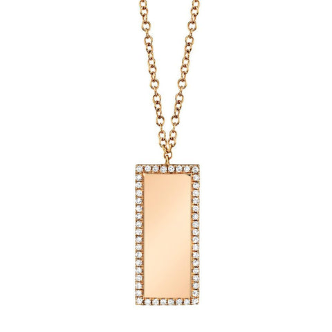 Diamond Bar Leah Necklace
